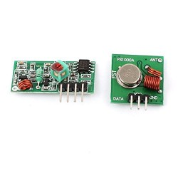 433MHz RF Transmitter w Receiver Module for Arduino ARM MCU Wireless